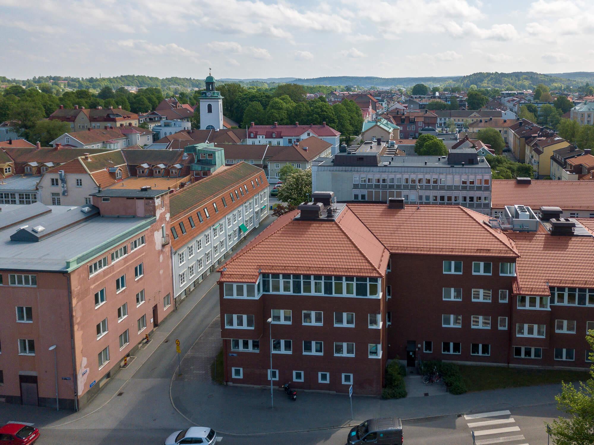 Foto på Alingsås uppifrån