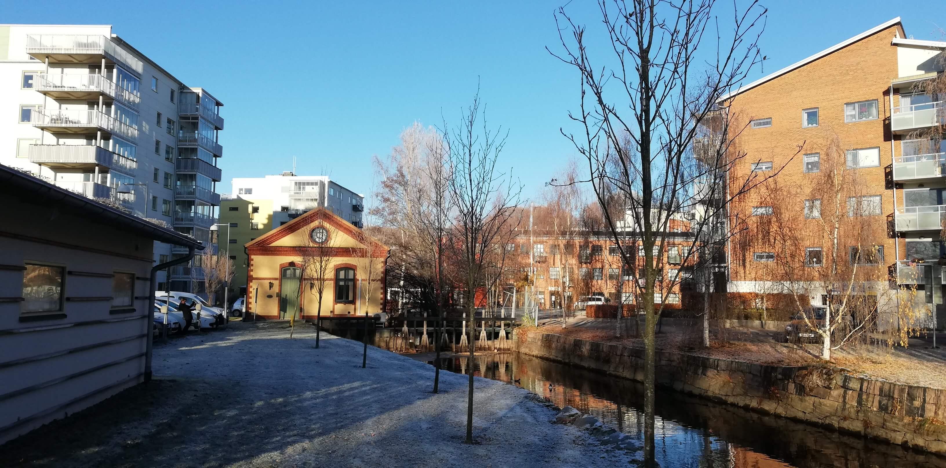 Foto på Pumphuset i Alignsås som tillhör Alingsås Energi