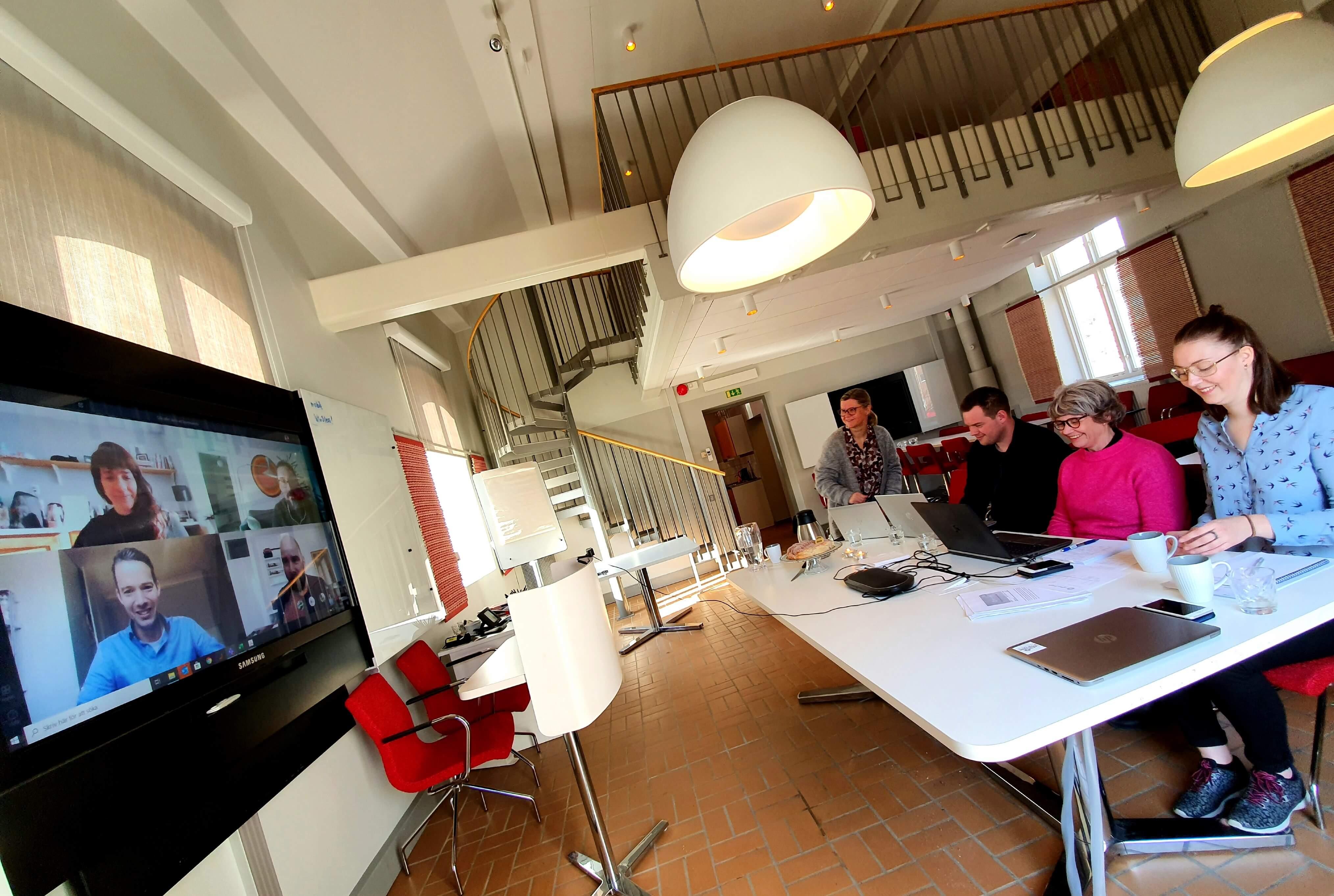 Konceptmötet sköts digitalt från Pumphuset