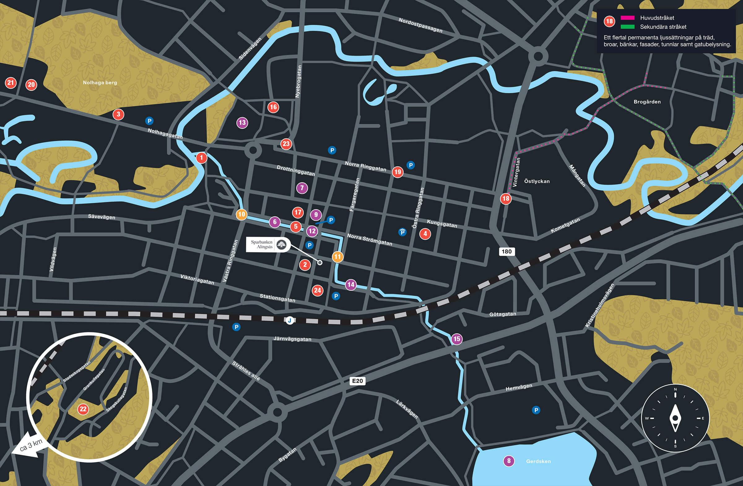 Karta Lights in Alingsås 2020